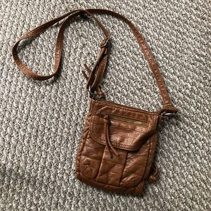 BUENO brand brown over the shoulder purse